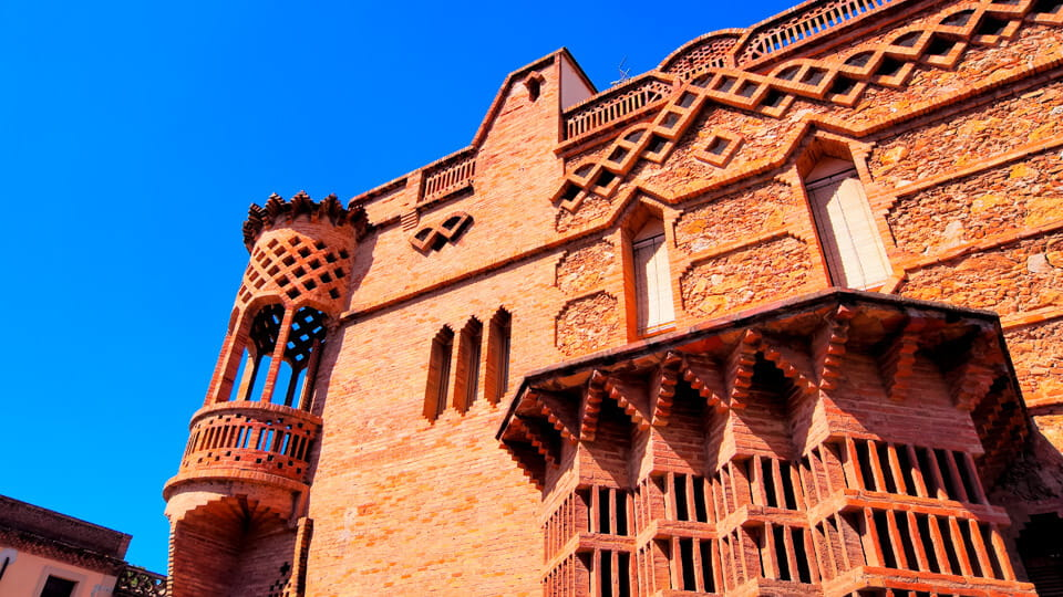Espinal house in Colonia Guell, Barcelona, Catalonia, Spain.